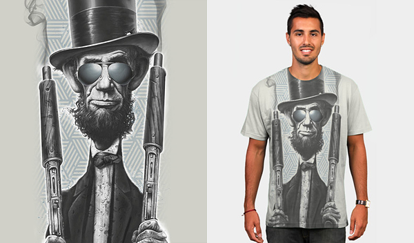 bad lincoln 50 Inspiring & Creative T shirts You Can Actually Buy