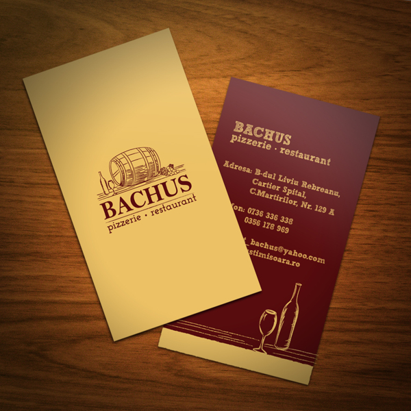 restaurant bachus - Restaurant Business Card