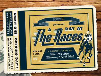 Del Mar Thoroughbred Club Ticket by Amy Hood