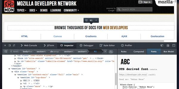 Firefox's-Font-Inspector