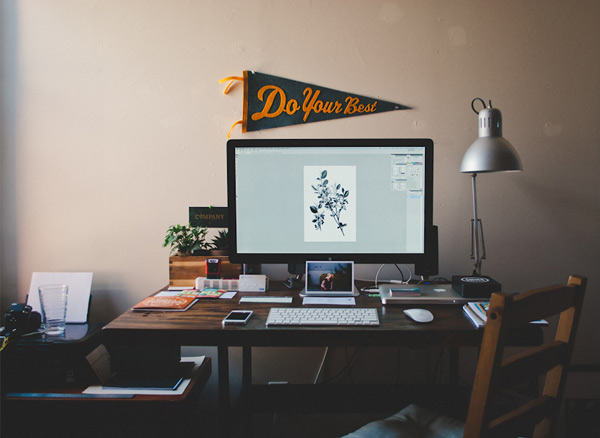 michael smith 25 Workspaces of Designers from Dribbble