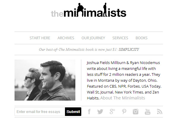 minimalists Become a Minimalist: 10 Blogs Youve Gotta Check out