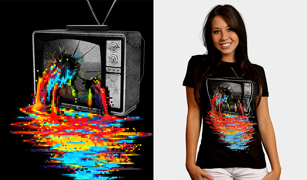 pixel overload 50 Inspiring & Creative T shirts You Can Actually Buy