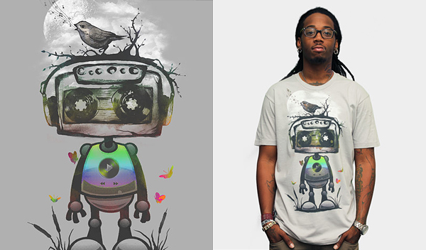 play my musical robot 50 Inspiring & Creative T shirts You Can Actually Buy