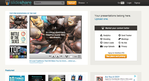 slideshare 7 Content Marketing Tools You Must Know About