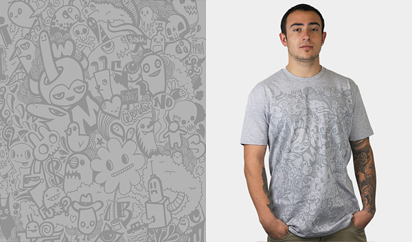 the faded doodle 50 Inspiring & Creative T shirts You Can Actually Buy