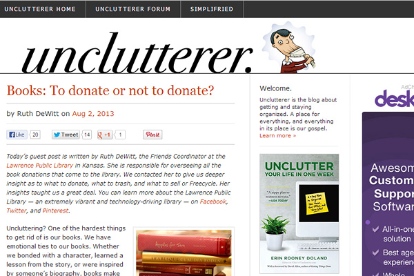 unclutterer Become a Minimalist: 10 Blogs Youve Gotta Check out