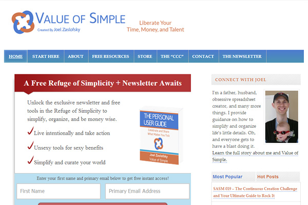 valueofsimple Become a Minimalist: 10 Blogs Youve Gotta Check out