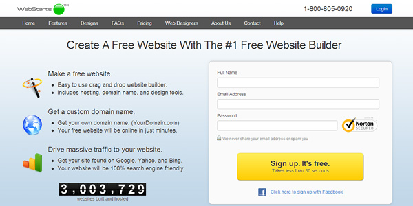 webstarts 20 Free and Easy Website Building Tools