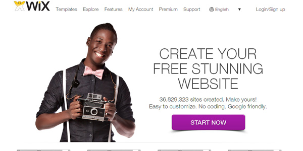wix 20 Free and Easy Website Building Tools