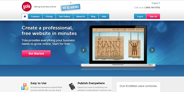yola 20 Free and Easy Website Building Tools