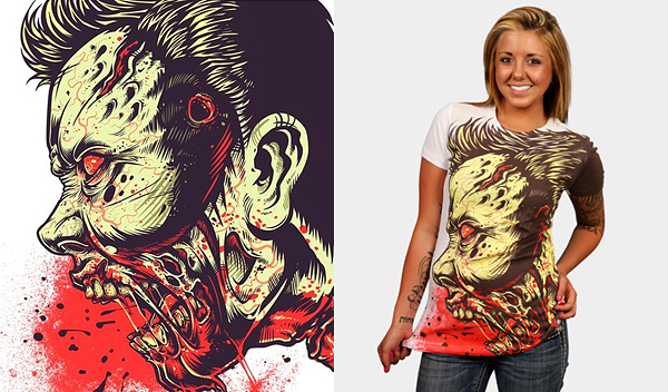 zombie frenzy by mr nicolo 50 Inspiring & Creative T shirts You Can Actually Buy