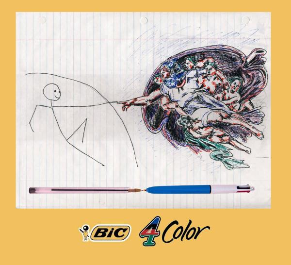 Student ad for Bic 4-Color Pens