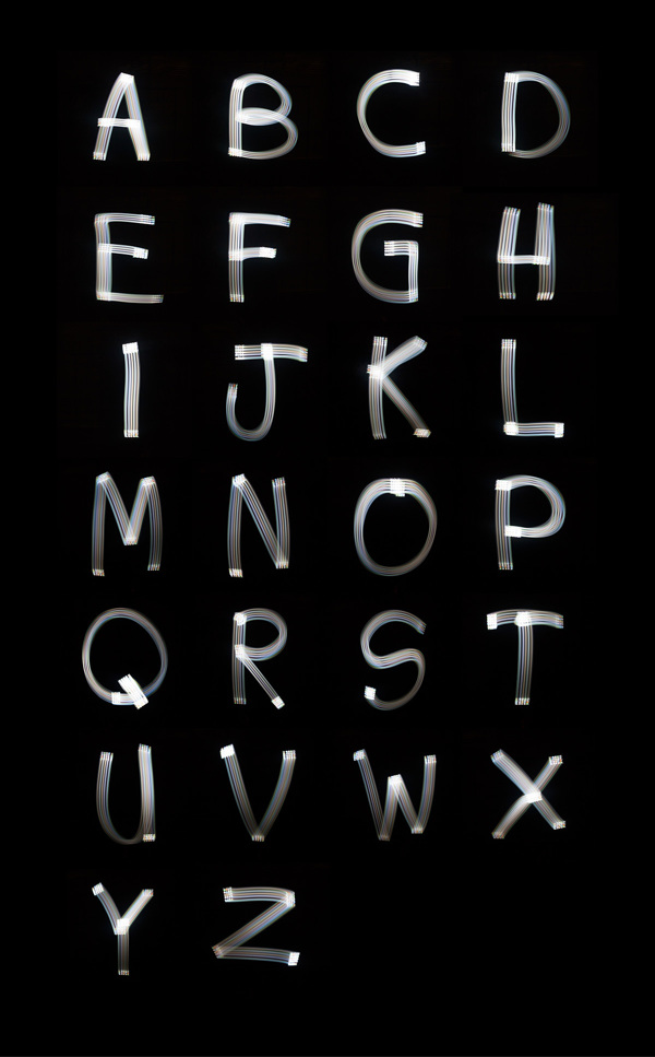 iPhone emitted light into 3D Letter & Font Suite