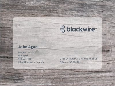 blackwirecard1 Why You Should Use Plastic Business Cards