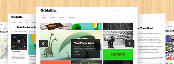 gridzilla theme preview1 30 Free Quality Website PSD Templates