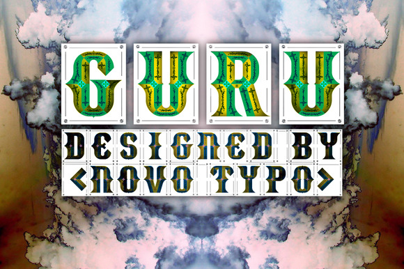 guru 01 f1 20 Truly Unique & Creative Typefaces