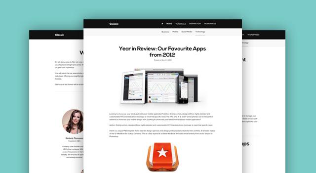 header81 30 Free Quality Website PSD Templates