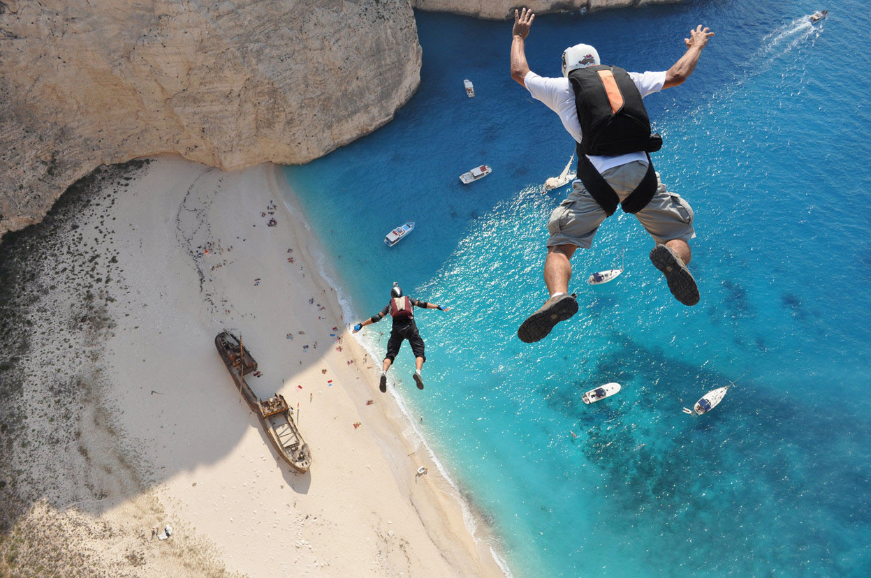 Making the Leap off a Greek cliff by Dimitrios Kontizas