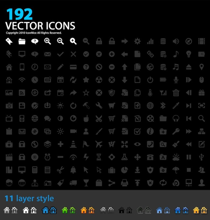 iconnicepreview1 Free Download: 192 Designer Icons For Your Next Project