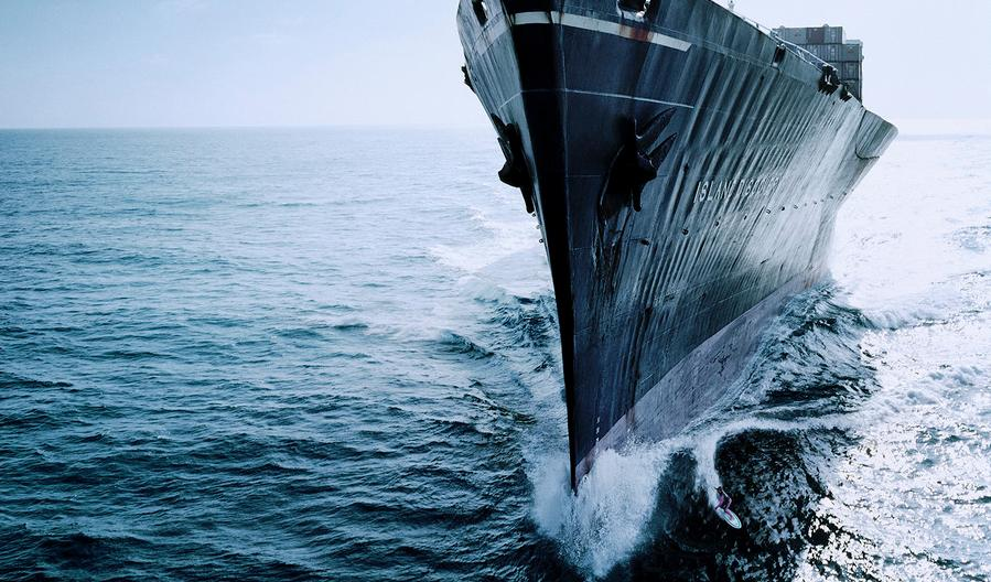 Surfing A Ship's Bow Wake