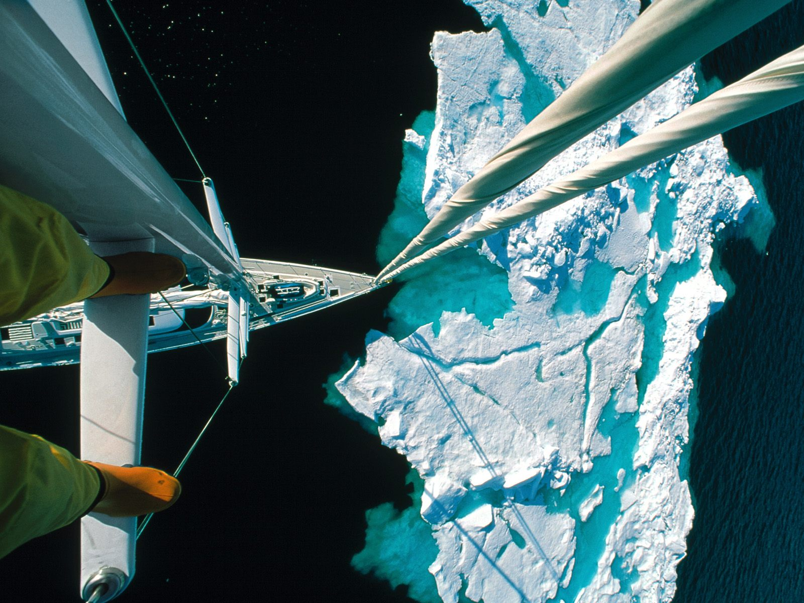 Approaching an Iceberg in the Arctic
