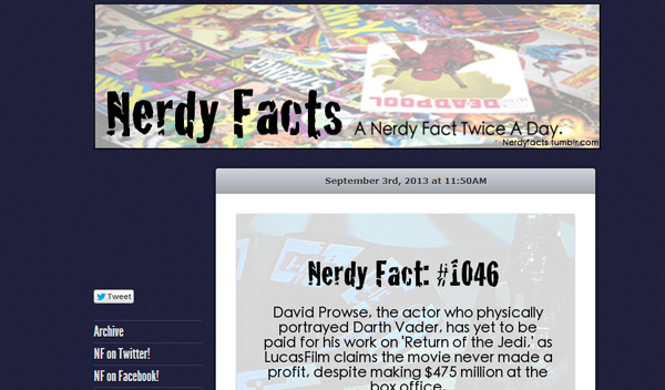 nerdyfacts 20 Tumblr Blogs You Should Be Following