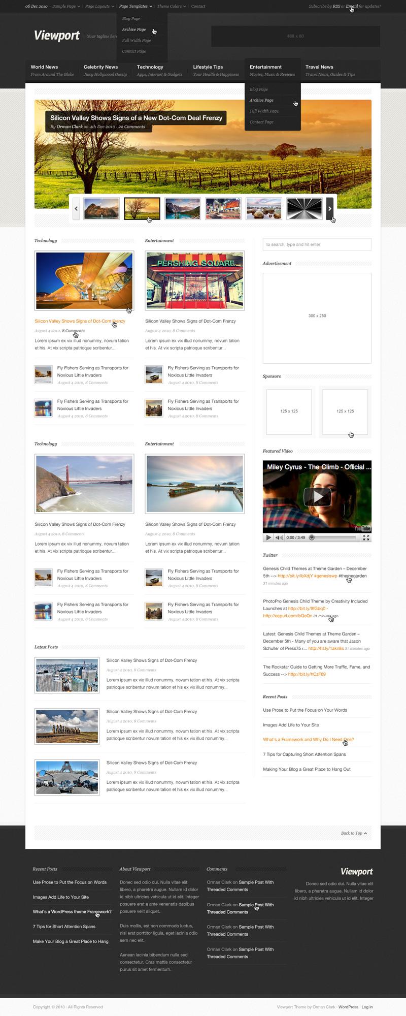 ViewPort: Magazine Site Template (PSD)