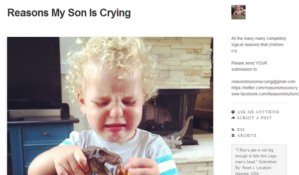 reasonsmysoniscrying 20 Tumblr Blogs You Should Be Following