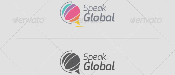 Speak Global Logo Template