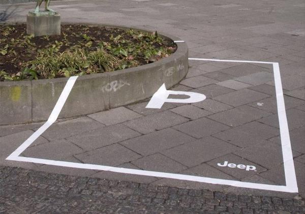 Parking space for jeeps