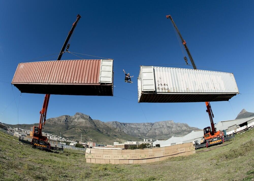 Jean-Marc Johannes 10m suspended skate gap in South Africa