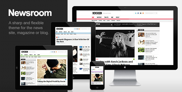 01 newsroom   large preview1 40 Premium News and Editorial Wordpress Themes