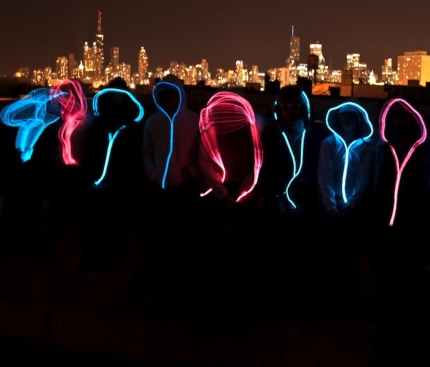Delware Glowing Hoodie by Electric MVMT