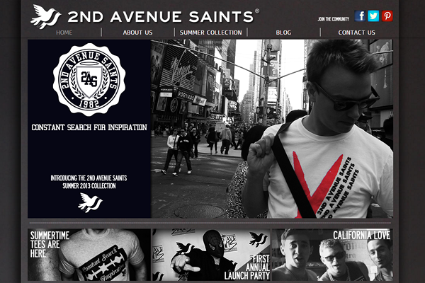 2ndavenuesaints 25 Beautiful Websites Designed With Wix