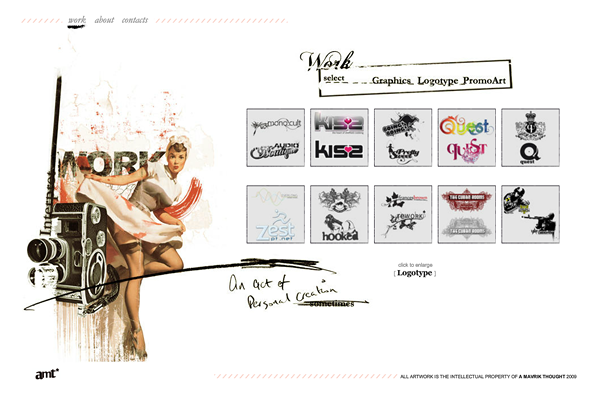 amavrikthought 25 Beautiful Websites Designed With Wix