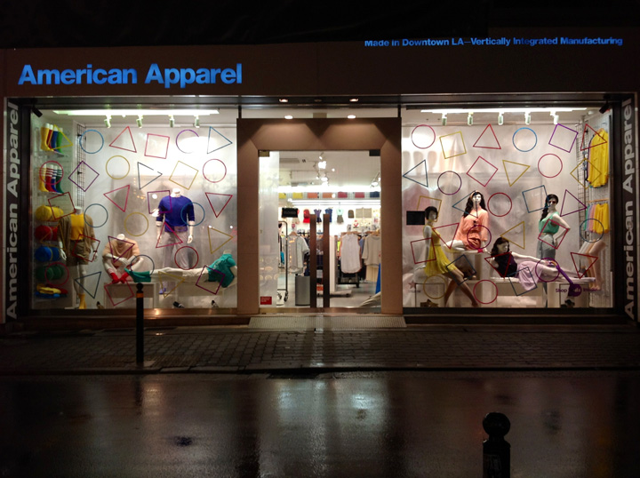 american apparel windows spring 2013 lena shockley japan1 15 of the Best Window Displays of 2013