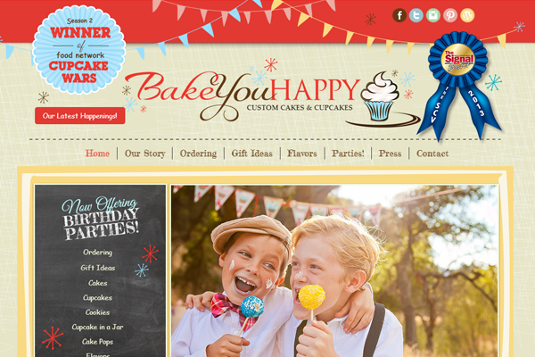 bakeuhappy 25 Beautiful Websites Designed With Wix