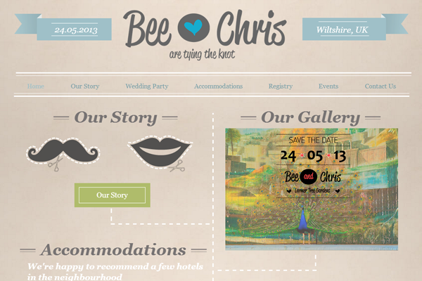 beeandchris 25 Beautiful Websites Designed With Wix