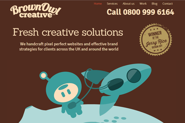 brownowlcreative 25 Beautiful Websites Designed With Wix