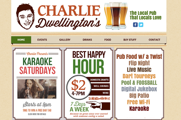 charliedwellingtons 25 Beautiful Websites Designed With Wix