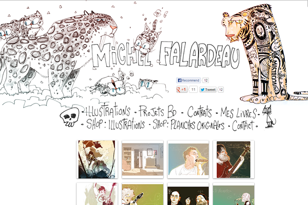 michelfalardeau 25 Beautiful Websites Designed With Wix