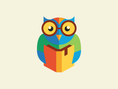 owl1 30 Charming Flat Logo Designs