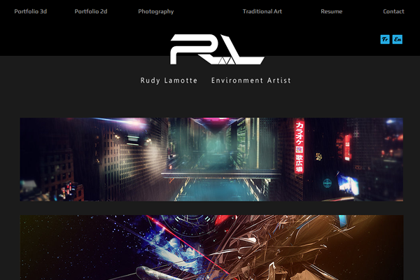 rudylamotte 25 Beautiful Websites Designed With Wix