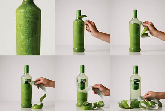 Peelable Bottle by Smirnoff