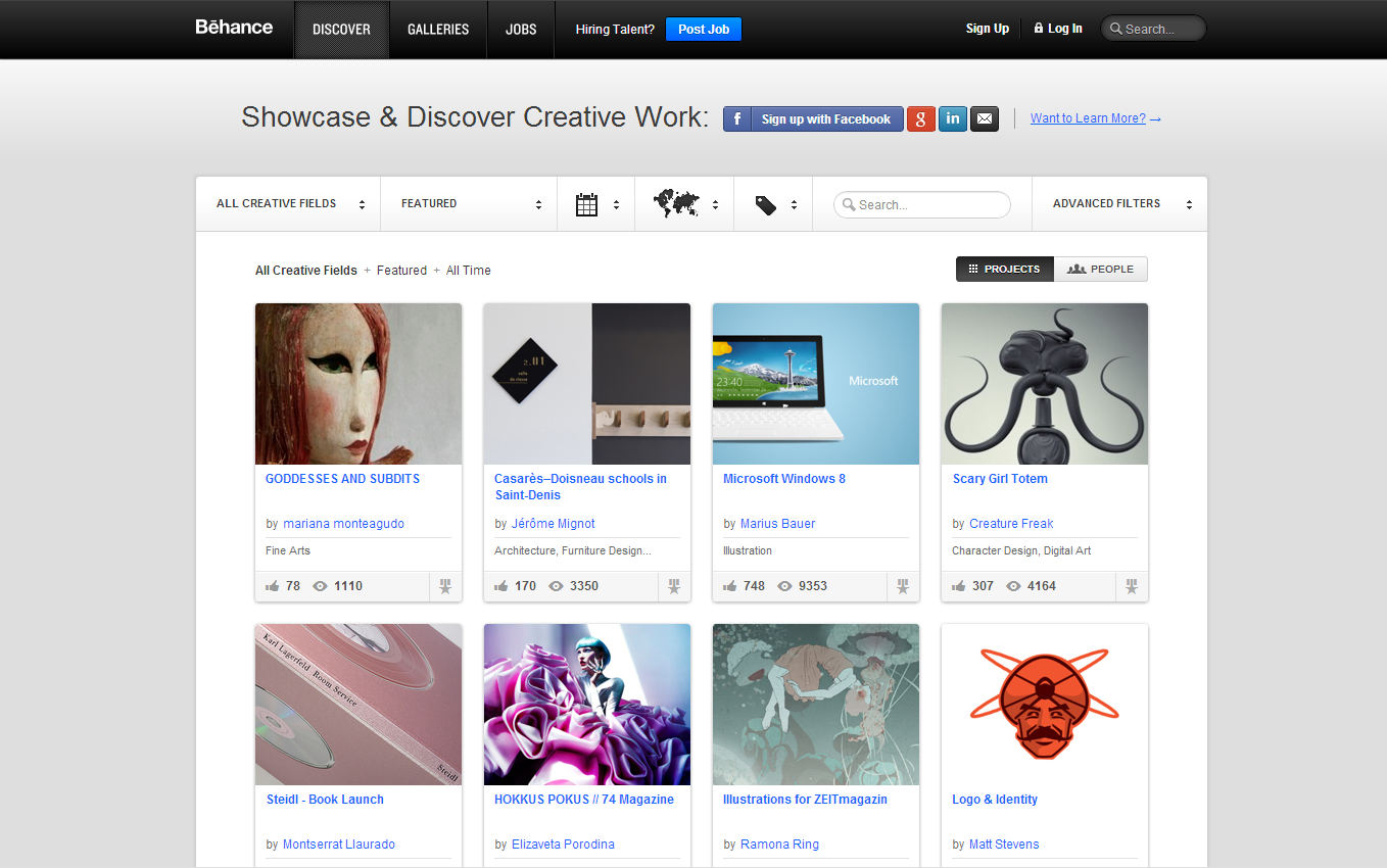 behance1 30 Outstanding Websites to Fuel Your Creativity