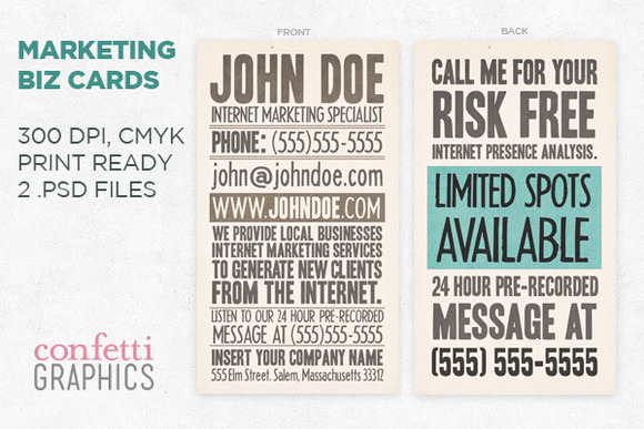 Textured Marketing Business Card
