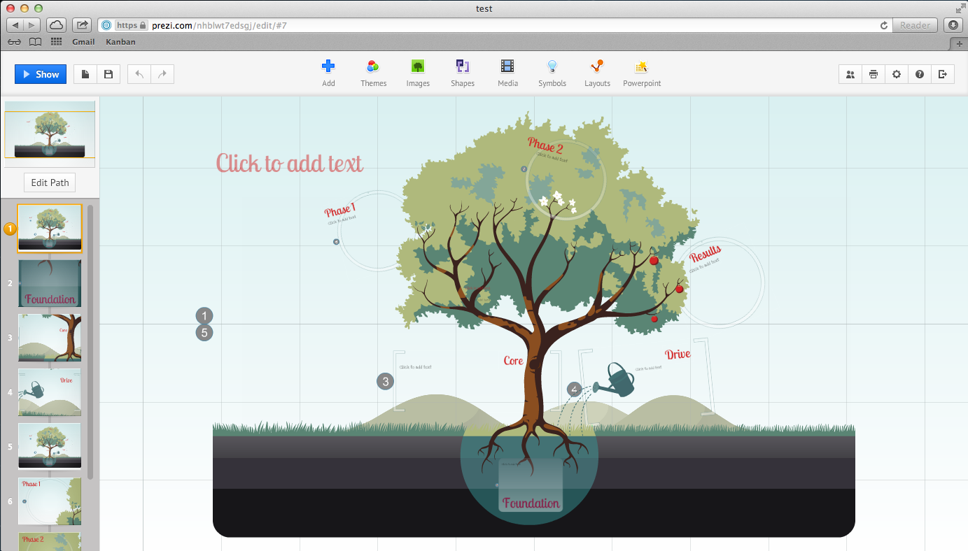 prezi template screenshot1 5 Noteworthy PowerPoint Alternatives