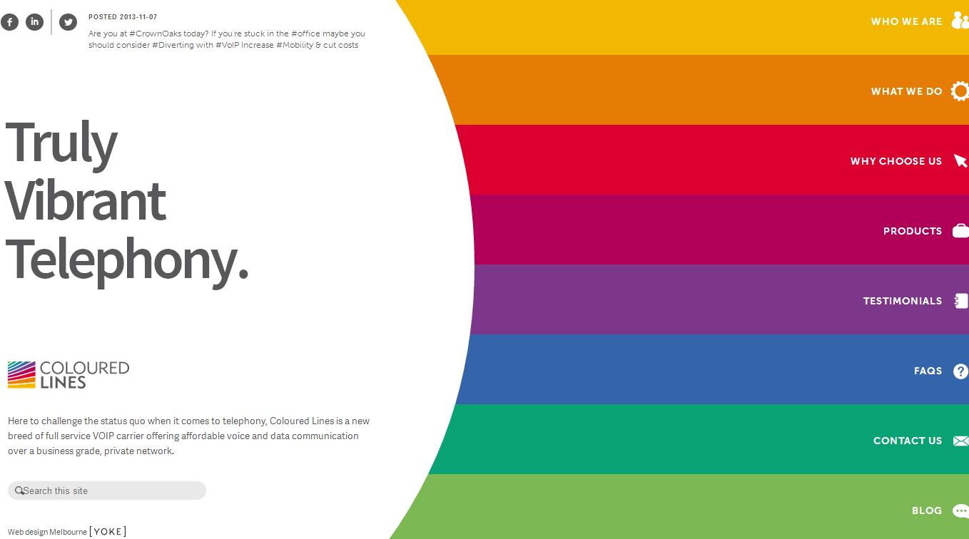coloured lines Best Website Designs of 2013