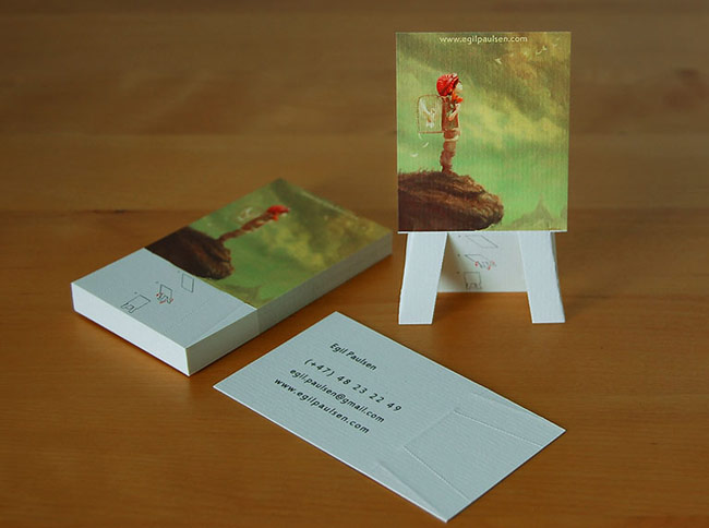 easel pop up stand business cards1 Top 6 Business Card Innovations That You Can Use Today